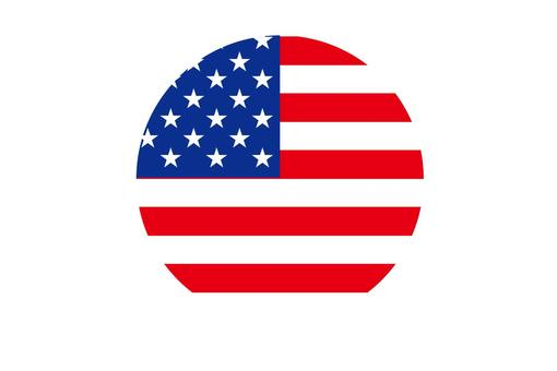 American flag round icon