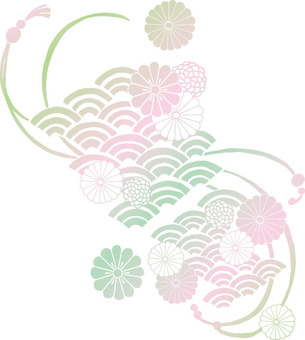 Chrysanthemum pattern (cherry blossoms)
