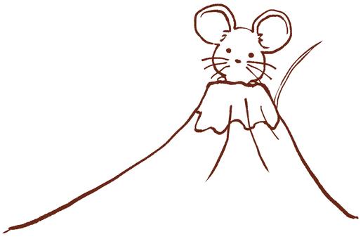 """Mt. Fuji and zodiac animals """"child"""""""