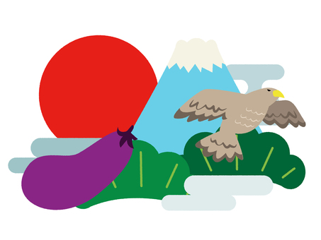 A Fuji two eagles eggplant