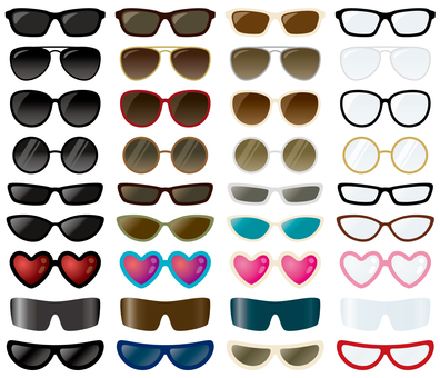Set of sunglasses and glasses 01