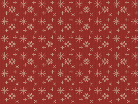 Knit Pattern Snow - Red