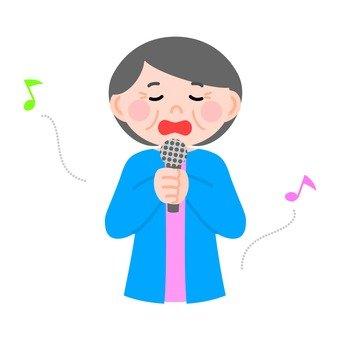 Singing senior women