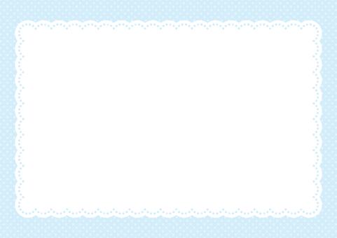 Paper napkin frame blue