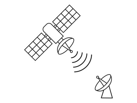 Satellite and parabolic antenna