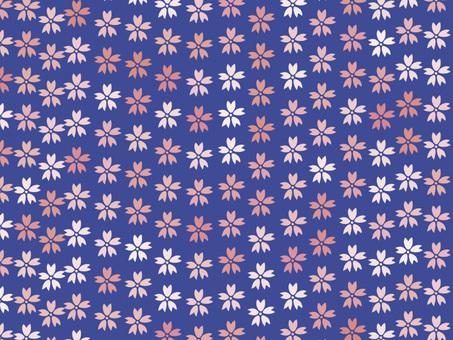 Chiyogami Sakura 1 (Blue)