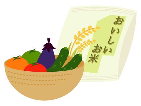 米飯和蔬菜