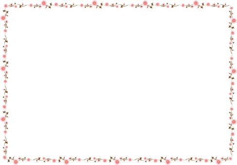 Flower frame (pink)