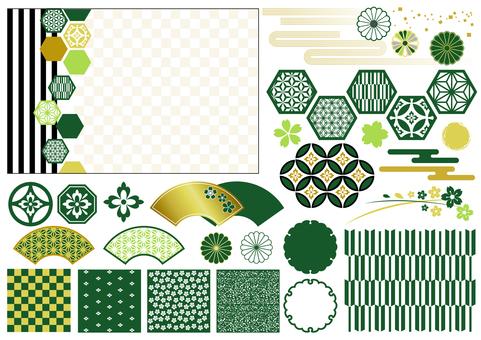일본식 디자인 소재
