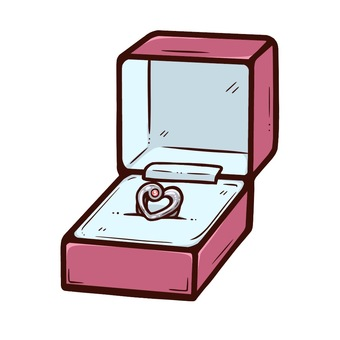 Heart ring in a case