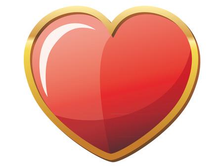 Heart gold frame