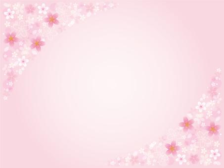 부드러운 벚꽃 배경