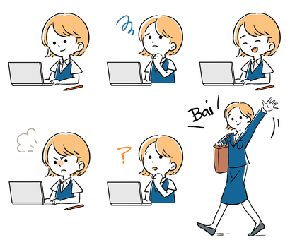 일하는 여성