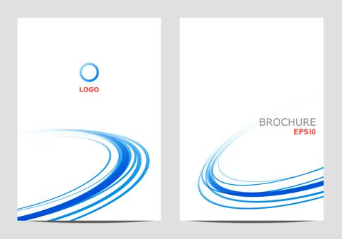 Template design round blue
