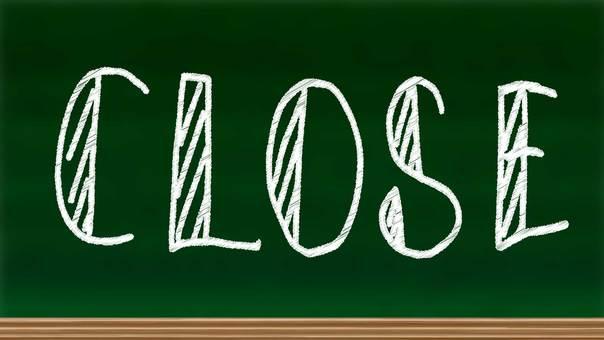 Blackboard with closed letter written
