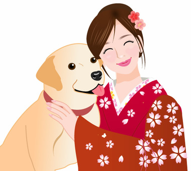 Labrador and kimono women