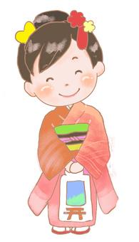 Shichigo-seven-year-old girl
