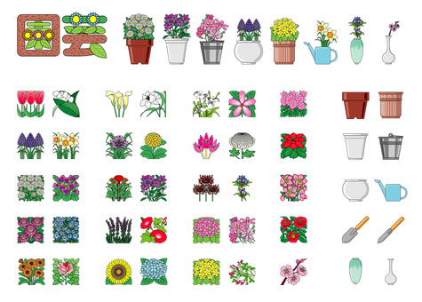 Flower gardening collection
