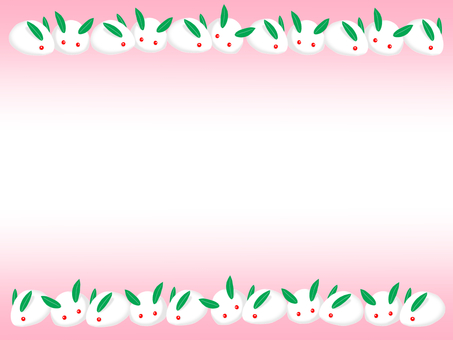 Snow Rabbit Frame (Pink)