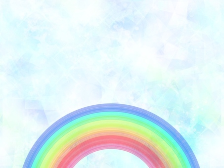 Sparkling background and rainbow