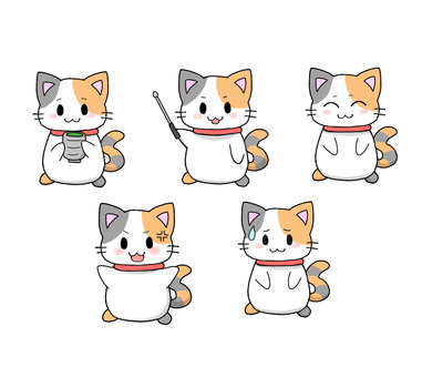 Calico cat set