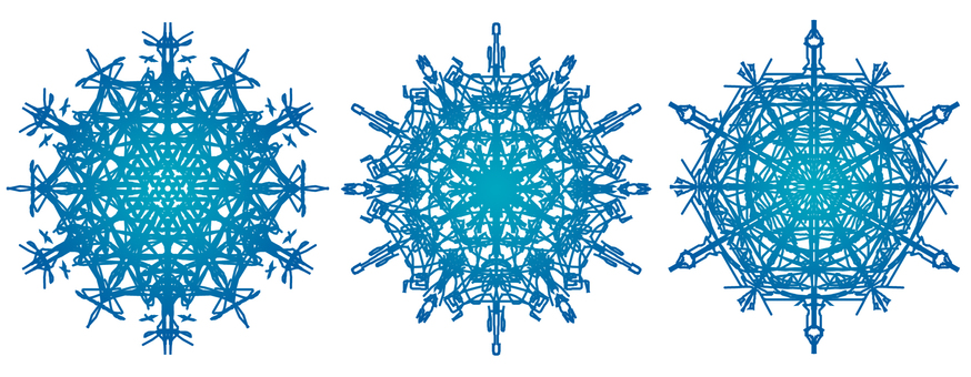 Snow crystal 2 Blue