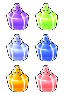 A glass bottle