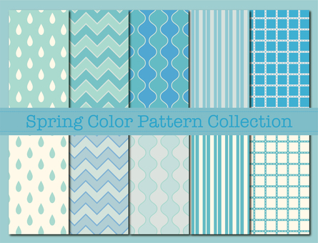 Pattern material 85 (Spring color pattern 01 blue)