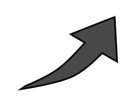Rising arrow black