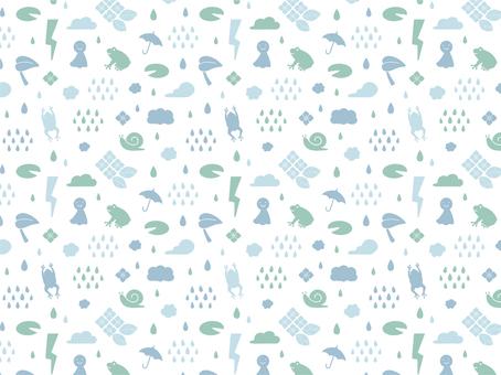 Rainy season pattern material