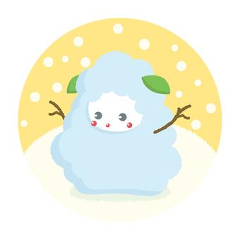 Snowman Sheep