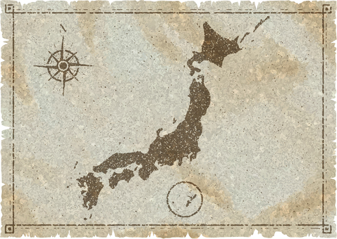 Japan map old map style