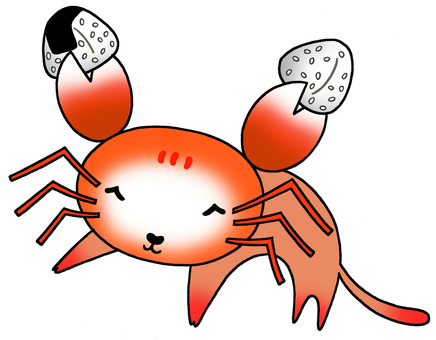 A combined character of a crab and a cat.2
