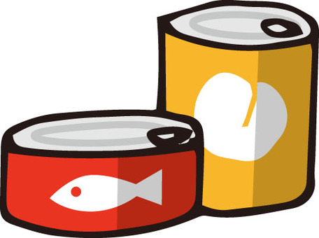 Canned food (red · yellow)