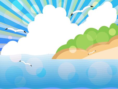 Summer seas and islands