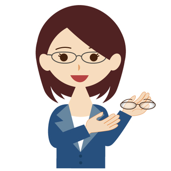 Image of eyeglass salesperson (female)