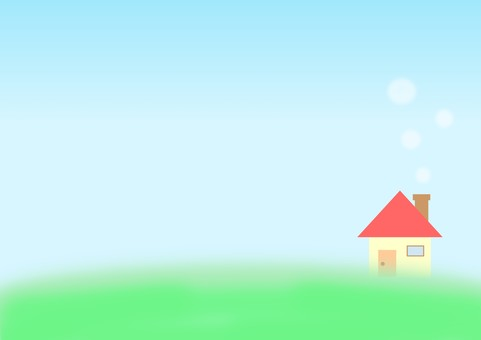 Meadow and house letter paper A4 size