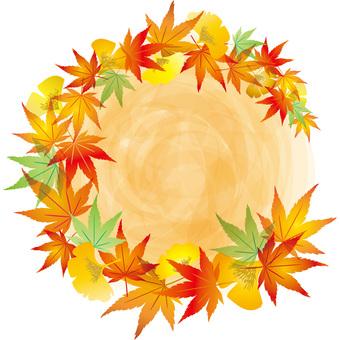 Maple Frame Autumn Leaves Gingko Ginkgo Border Frame Decoration
