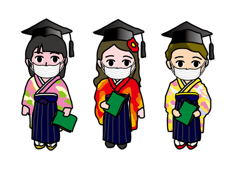 Infection control 41 Mask and hakama degree conferment ceremony