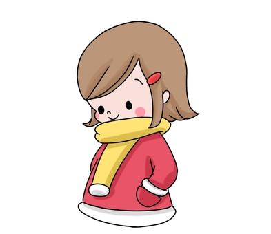 Girl with hands in coat pocket