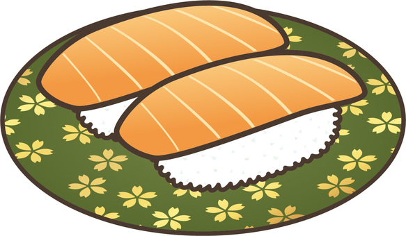Conveyor belt sushi: salmon