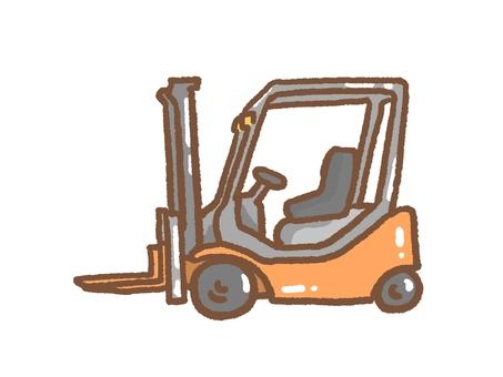 Forklift orange