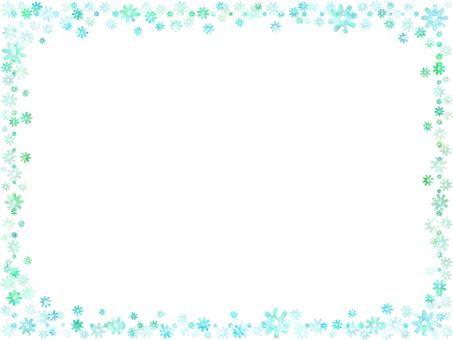 Flower frame 1 (green)