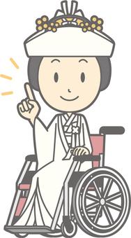 Horn Hidden - Wheelchair Pointing - Full Length