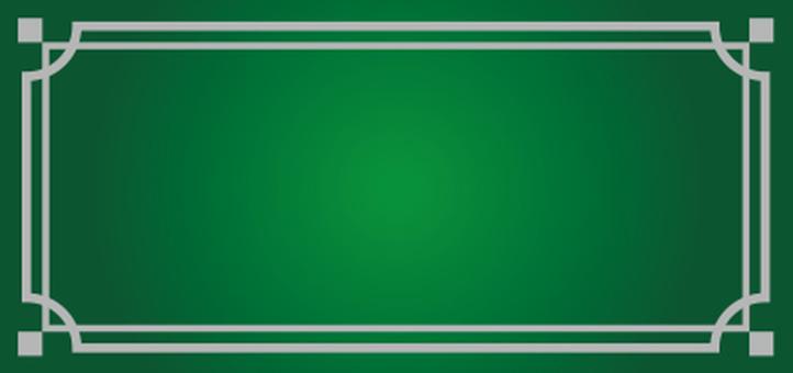 Decoration frame Green