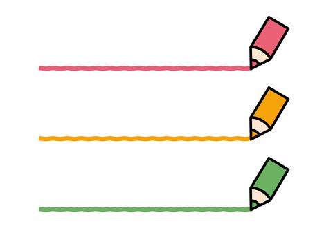 Color pencil 3 colors