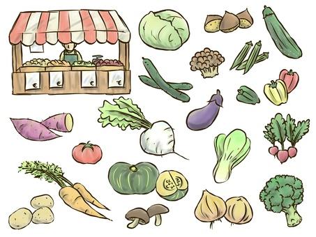 Vegetable Marche (color thin version)