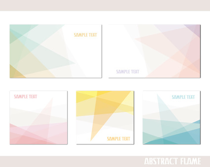 Pastel abstract frame