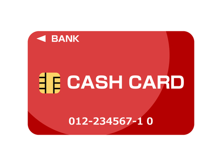 Cash card (bank card) no band red