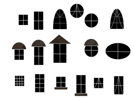Various windows, monotone